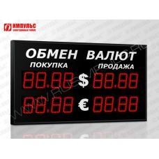 Уличное табло валют 4 разряда Импульс-310-2x2xZ4