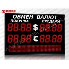 Табло валют со строкой 4 разряда Импульс-315-2x2xZ4-S12x64