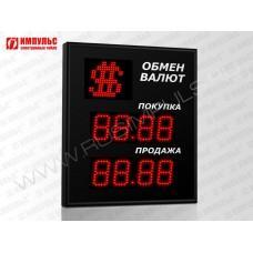 Символьное табло валют 4 разряда Импульс-308-1x2xZ4-S11