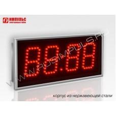 Часы в корпусе из нержавеющей стали Импульс-408-NRG