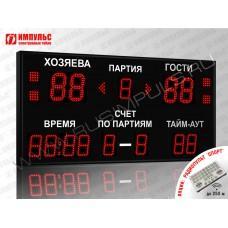 Табло для волейбола Импульс-713-D13x4-D10x9-S4-A2