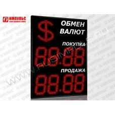 Символьное табло валют 4 разряда Импульс-331-1x2xZ4-S35