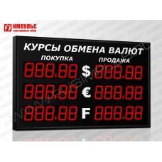 Уличное табло валют 5 разрядов Импульс-310-3x2xZ5