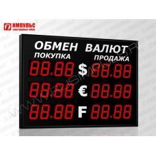 Уличное табло валют 4 разряда Импульс-311-3x2xZ4