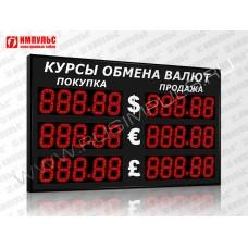 Уличное табло валют 5 разрядов Импульс-313-3x2xZ5