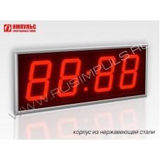 Часы в корпусе из нержавеющей стали Импульс-410-NRG-EURO