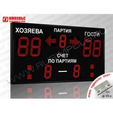 Табло для волейбола Импульс-718-D18x4-D13x3-S4-A2
