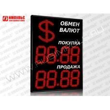 Символьное табло валют 4 разряда Импульс-327-1x2xZ4-S35