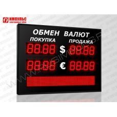 Табло валют со строкой 4 разряда Импульс-306-2x2xZ4-S6x64