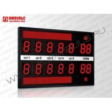 Табло для тенниса Импульс-713-L2xD13x7-L2xS8x64-S2