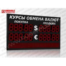 Табло валют со строкой 5 разрядов Импульс-318-2x2xZ5-S12x96