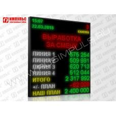 Светодиодный промышленный экран Импульс-900-160x192xP6-ETN