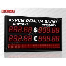 Табло валют со строкой 5 разрядов Импульс-311-2x2xZ5-S8x96