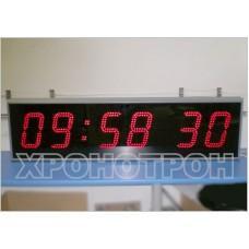 Цифровые часы с высотой знака 240 мм ЦПВ.6.240