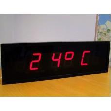 Цифровые часы с высотой знака 100 мм ЦПВ.4.100