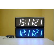 Цифровые часы с высотой знака 100 мм PoE-NTP ЦВС.4.100