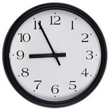 Часы стрелочные вторичные УЧС-250-Ч (м)